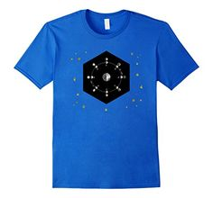 Mens Vintage Sky Map Moon Orbit & Planet Earth with Stars...