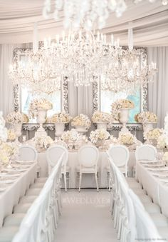 Bobka Baby and Bridal: Extraordinary White Wedding Decor Wedding Themes, Wedding Events, Wedding Styles, Wedding Receptions, Wedding Ideas, Wedding Photos, All White Wedding, Cream Wedding, White Weddings