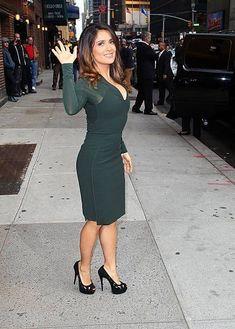 Selma Hayek, Salma Hayek Body, Telenovela Teresa, New York October, Salma Hayek Pictures, Celebs, Celebrities, Bodycon Dress, Actresses