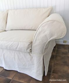 The 12 Weight Cotton Duck I Used For This Sofa Slipcover Wrinkles Sure But