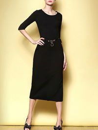 Classic Black Dress with awesome stylish pumps