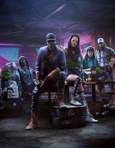 Wallpaper HD Watch Dogs 2 - Dedsec Team #WatchDogs2 #MarcusHolloway #PC #PS4 #XboxOne #Ubisoft #shooter #Hacker #Dedsec