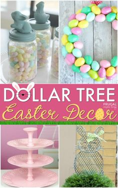 Dollar Store Easter Decor Ideen - Home Decor Ideen mit einem Dollar Tree Budget . - Dollar Store Easter Decor Ideen – Home Decor Ideen mit einem Dollar Tree Budget - Dollar Tree Decor, Dollar Tree Crafts, Spring Crafts, Holiday Crafts, Oster Dekor, Diy Osterschmuck, Easy Diy, Diy Easter Decorations, Easter Centerpiece