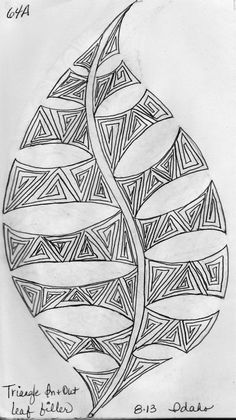 A few more Leaf Designs from My Sketch Book ... While camping last summer, I was inspired to draw leaves and fill ...