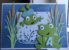 Scrapcard girls: Zwemdiploma A goodluckcards 3d Cards, Folded Cards, Elizabeth Craft Designs, Kids Birthday Cards, Card Making Tutorials, Die Cut Cards, Marianne Design, Animal Cards, Punch Art