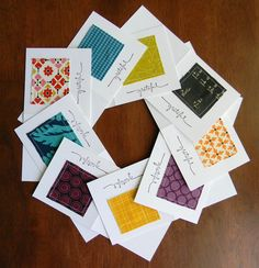 Teaginny Designs: Grateful  more fabric cards
