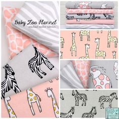 Michael Miller House Designer - Baby Zoo Flannel Fabric Collection
