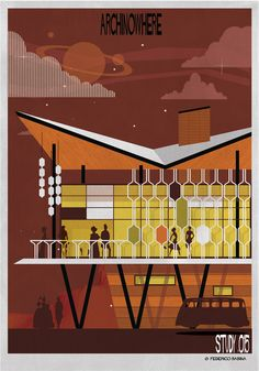 ARCHINOWHERE: A Parallel Archi-Universe Illustrated by Federico Babina