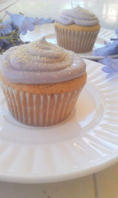 Honey Lemon Lavender Cupcakes. Lemony frosting was amazing and is enough to frost 3 dozen cupcakes. Cake was dry, though after a day it got better. Not enough lavender flavor in the cake.