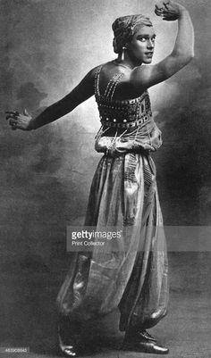 Vaslav Nijinsky, Russian ballet dancer and choreographer. Vaslav Nijinsky (1889-1950) as the Golden Slave in Scheherazade.