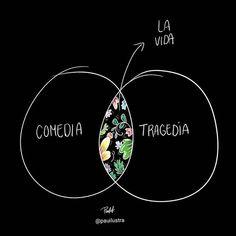 por @pauilustra . . #pelaeldiente . #viñetas #ilustración #comics #webcomics #caricaturas #dibujos #arte #humor #historietas #españa #caricaturadigital #español #castellano #inspiración #latinoamérica #doodles #cartoon #humorgráfico #talentocriollo #comedia #tragedia #lavida Cute Phrases, Love Of My Life, My Love, Life Rules, Humor Grafico, Feeling Sad, Ig Story, Cheer Up, Hilarious