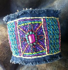 Denim Cuff Bracelet  another by pennylaneink