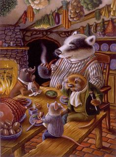 Gallery: The Wind in the Willows Cute Animal Illustration, Children's Book Illustration, Book Illustrations, Mushroom Pictures, Caricature Drawing, Fantasy Artwork, Whimsical Art, Cute Drawings, Vintage Art