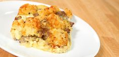 Tater Tot Breakfast Casserole Recipe Breakfast and Brunch with breakfast sausages, frozen tater tots, salt, pepper, garlic powder, onion powder, shredded cheddar cheese, mozzarella cheese, eggs, milk