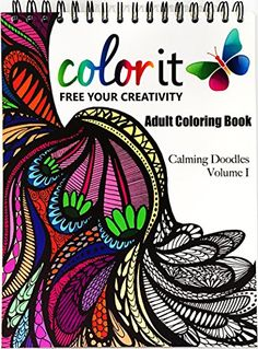 ColorIt Adult Coloring Book Calming Doodles Volume 1