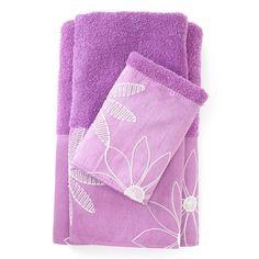 Popular Bath Products Daisy Stitch 3 Piece Towel Set | Wayfair