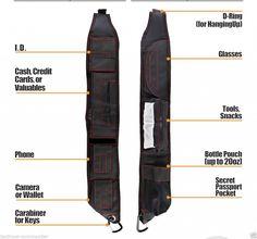 EDC Urban Tactical Ninja Minimalist Shoulder Sling Pack Bag Backpack Substitute | eBay