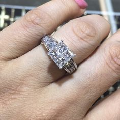 Kay jewelers engagement ring This is a Kay Jewelers $5499.00 is what i paid for it look a the picture on the receipt. 2.50 carat quad setting with 4 princess cut diamonds in the Center which total weight is 1 carat and solitaires on the side which totals another 1.50 carat ring size 7 14 karat gold the diamond clarity is an L2 color of stones is whitei the ring is over $5,000 new call or text 6319236045 Kay Jewelers Jewelry Rings Kay Jewelers Engagement Rings, Princess Cut Diamonds, Diamond Clarity, 1 Carat, Girls Dream, 14 Karat Gold, Quad, Jewelry Rings, Stones