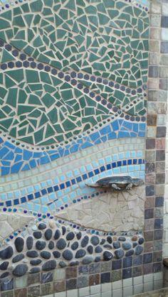 tiled wall fountain