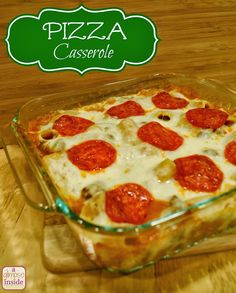 A Glimpse Inside: Tasty Tuesday- Pizza Casserole Recipe