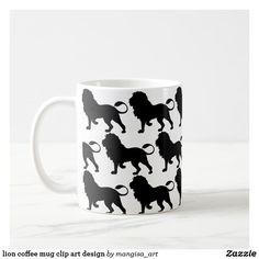 lion coffee mug clip art design
