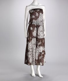 Take a look at this Beige Leopard Bloom Dress by Kische on #zulily today!