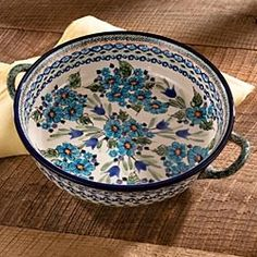 Polish Pottery Round Handled Baker in Holiday 2012 from Artisan Table on shop.CatalogSpree.com, my personal digital mall.