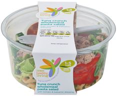 Big on taste, lower in calories Tuna Crunch Wholemeal Pasta Salad with Tomato and Balsamic Dressing. Salad Packaging, Food Box Packaging, Packaging Design, Salad Bowls, Pasta Salad, Rocket Design, Balsamic Dressing, Food Truck, The Cure