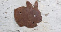 Rustic Bunny Shape #animal #bunny #farm #rabbit #Signparts
