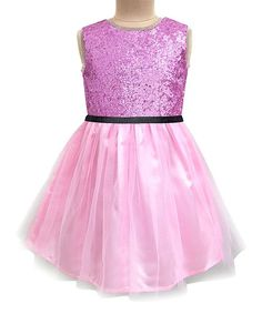 Blush Pink & Mauve Glitter Dress - Infant, Toddler & Girls