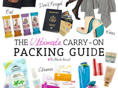 Whether you're taking a short flight or a transatlantic flight, this carry-on packing guide will ensure you are prepared for a comfortable journey.