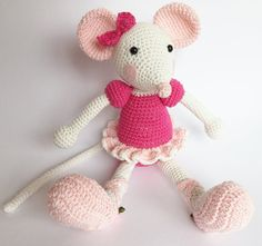 Amigurumi Ballerina Mouse (based on Lilleliis pattern)