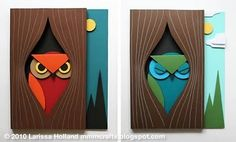 Here are two Owl paper crafts, designed by mmmcrafts. This paper owl art project is for you and your crafty older kids, say around years and u 3d Paper Art, Paper Owls, Paper Paper, Owl Crafts, Crafts For Kids, Paper Crafts, Owl Punch, Punch Art, Owl Templates