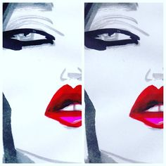 Red lips #faces #fashion #fashionart #fashionista #FashionLife #passion #painting #passion #cool #model #paint##artwork #chic #style #beauty #makeup #visagie
