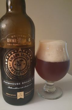 Ommegang Upside Brown is a 7 ABV Biere de Garde and brewed with wild Brettanomyces yeast, a strain known for being funky and tart.  The appearance is hazy copper with a large and frothy head and the nose fruity and funky.  The fruit and funk is present on the palate finishing bittersweet with earthy tones throughout.  Overall mouthfeel is moderate with fizzy carbonation.  Upside Brown is interesting for sure and only my second Biere de Garde, a style that is known to cellar well.