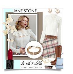 """La Vita E Bella...Jane Stone"" by melissa-de-souza ❤ liked on Polyvore featuring Vanity Fair, Philosophy di Lorenzo Serafini, Stefanel, Tory Burch, Dolce&Gabbana, Bobbi Brown Cosmetics, pretty, jewelry and janestone"