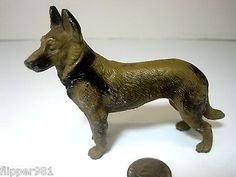Vintage Lead German Shepherd Figurine