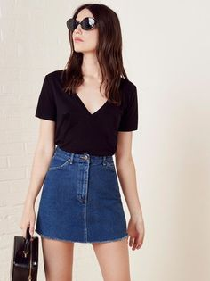 The Vintage Denim Skirt  https://www.thereformation.com/products/vintage-denim-skirt-true-blue?utm_source=pinterest&utm_medium=organic&utm_campaign=PinterestOwnedPins