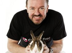 Ricky Gervais launches a global campaign to end animal cosmetics testing. Yay!  We need more loud, outspoken activists.