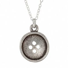 Button Necklace, $22, now featured on Fab.