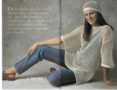 Southmaid Book 385 The Lacy Look 6 Crocheted Items Cotton Crochet, Thread Crochet, Knit Crochet, Crocheting Patterns, Crochet Clothes, Warm Weather, Knitting, Stylish, Book