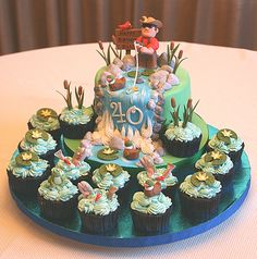Fly Fishing Cake.. perfect cake for Scott, maybe for his 50th birthday as it would take me a LONG time to make this :)