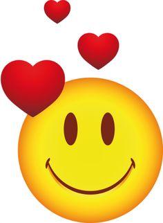 Sticker smile amoureux Smiley Emoticon, Emoticon Faces, Funny Emoji Faces, Love Smiley, Happy Smiley Face, Emoji Love, Images Emoji, Emoji Pictures, Emoji Stickers
