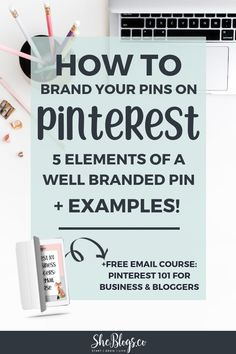 How to brand your pins on Pinterest so they're recognizable and get more clicks and repins. Grow your blog with well branded pins. See examples from some of the best bloggers! #BloggingTips, #BloggingForBeginners, #Branding, #PinterestMarketing Email Marketing, Business Marketing, Content Marketing, Social Media Marketing, Digital Marketing, Marketing Videos, Marketing Tools, Business Quotes, Business Tips