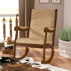 The rocking chair is back after a long time and as modern as it used to be. After a decade long brea Upholstered Rocking Chairs, Wooden Rocking Chairs, Rocking Chair Porch, Chair And Ottoman, Living Room Furniture, Home Furniture, Furniture Chairs, Wooden Furniture, Bed Frame With Storage