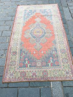 Excited to share the latest addition to my #etsy shop: pastel carpet, boho rug, area rug, turkish rug, oushak rug, vintage rug, floor rug, Large Faded Carpet, 3.8x6.6 ft, ethnic rug, gift for her Rugs On Carpet, Carpets, Medium Rugs, Star Rug, Rustic Rugs, Traditional Rugs, Floor Rugs, Handmade Rugs, Vintage Rugs