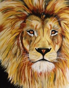 LEO~Lion painting