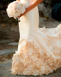 Love the peony bouquet with that gown.... :) :)