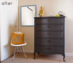 This is actually the chest of drawers from my mother's childhood bedroom re-done with new hardware as well.  May be a good option for me. We have the side table, desk, dresser and canopy bed as well.