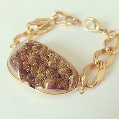 Chain Bracelet Druzy Bracelet Gold Chain by McIntoshJewelry, $25.00
